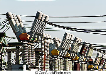High voltage - Many electric installations on high-voltage ...