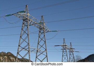 High voltage masts