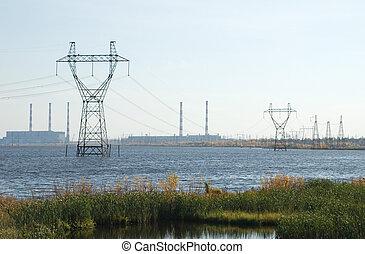 High-voltage post
