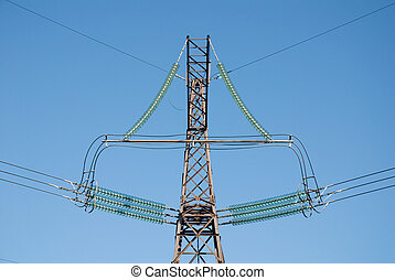 High-voltage post