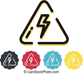 High Voltage Power Alert Sign - Icon