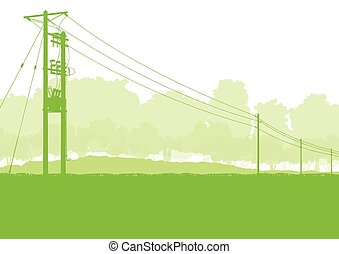 High voltage power line