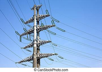 High-voltage power line metal prop