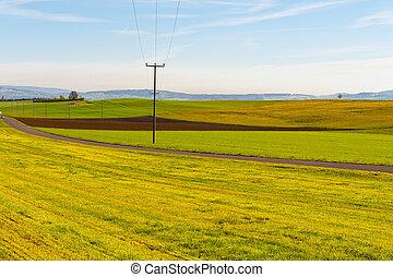 Power Line - High-voltage Power Line Passes through the ...