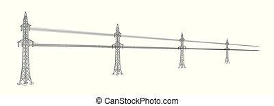 high voltage power lines - High voltage power lines. High...