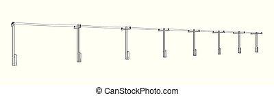 high voltage power lines - High voltage power lines or...
