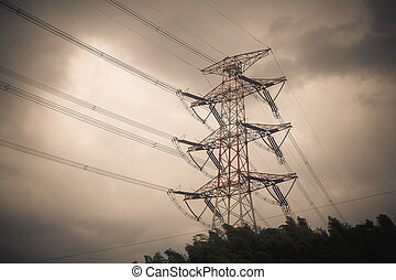 High voltage power pole