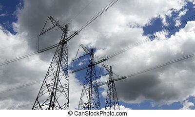high voltage pylons - high voltage power pylons.