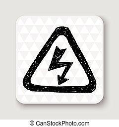 High Voltage sign doodle