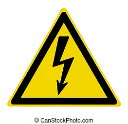High Voltage Sign - This image shows a alert sign for high...