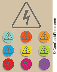 High Voltage Sign - Vector