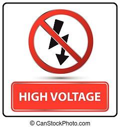 high voltage sign vector illustration