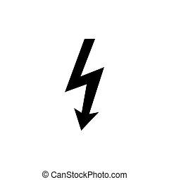 High voltage sign. Vector illustration, flat design.