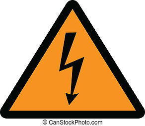 high voltage sign vector illustration
