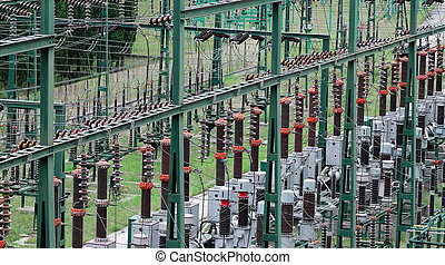 High voltage substation  - Detail from substation