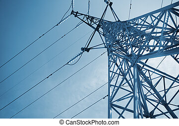 high-voltage tower - high-voltage line on the sky...
