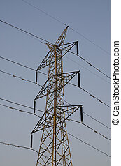 High-Voltage Tower Sky background for stock photo
