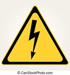 High Voltage Warning sign. Vector illustration