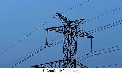 High-voltage wire tower.