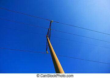 High-voltage wires