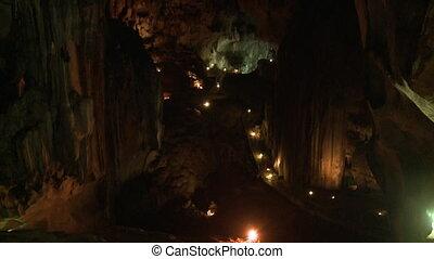 High Wall Of Gua Tempurung Tunnel, KL, Malaysia - Wide...