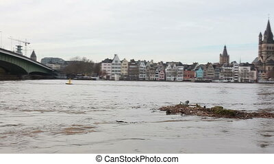 high water in cologne city