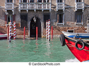 High water in Venice Grand Canal