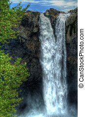 High Waterfall in HDR