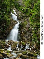 High waterfall