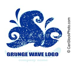 High wave - decorative illustration - High Wave - grunge...