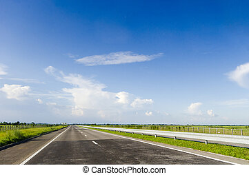 high way - a view of highway, with no cars.