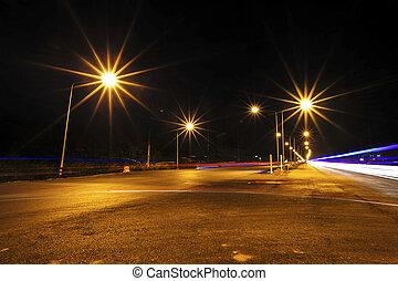 high way at night