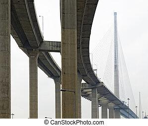 high way bridge under view
