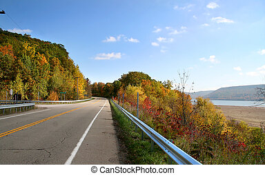 High way through Scenic Allegheny national forest