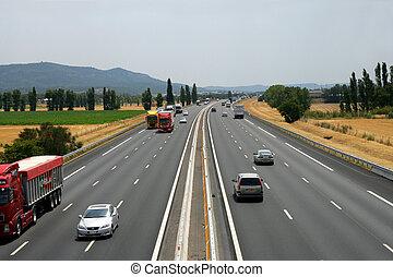 High way traffic