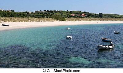 Higher Town bay beach St. Martin\\\'s.