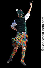 Highland Dancer - A girl competing in a highland dance ...