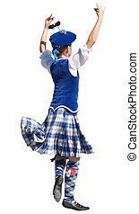Highland Dancer - A girl performing a highland dance for the...