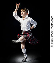 Portrait of a young highland Dancer