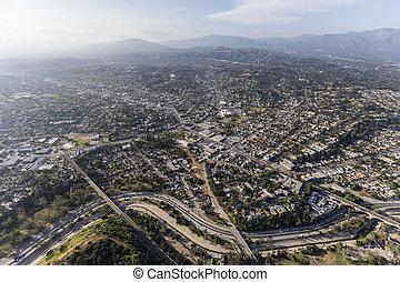 Highland Park Northeast Los Angeles Aerial