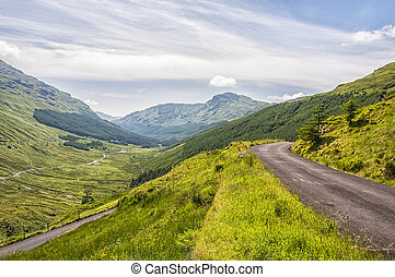 Highland Road In Scotland