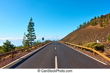 Highland road in Tenerife