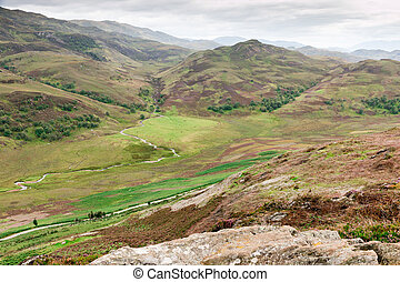 Highland View - View over the hills and slopes of the...