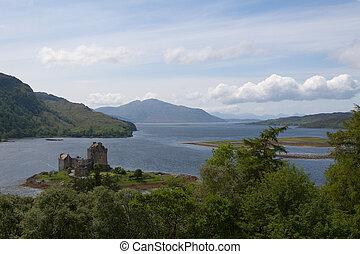 Highlander Castle - Eilean Donan Castle in Scotland where...