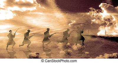 highlanders, 背景, スコットランド, ベルギー, 世界, 戦争