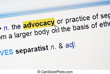 Highlighted word advocacy