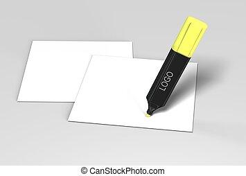 highlighter , φόντο , άσπρο