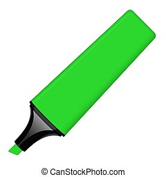 highlighter, aberta, -, verde