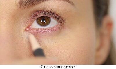 Highlighter for eyes - Professional makeup: highlighter for...