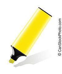 highlighter, giallo